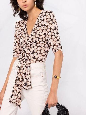 Multicoloured print blouse