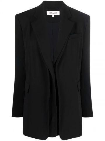 Black single-breasted jacket
