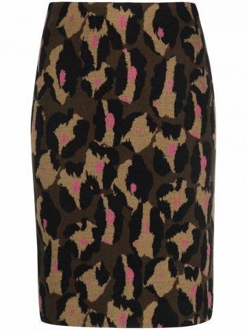 Animal print short skirt