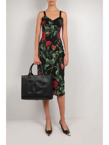Black Small Calfskin Dg Daily Shopper bag