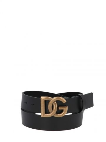 Black leather Asta Tosca Belt