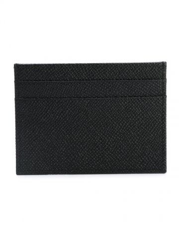 Black cardholder with logo