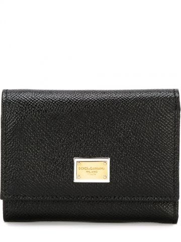 Black dauphine calfskin wallet