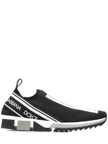 Sneakers sorrento in maglina stretch con logo nere