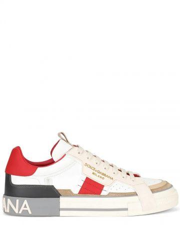 Sneaker custom 2Zero bianche e rosse