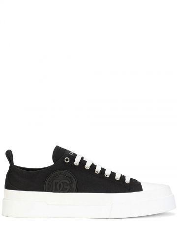 Black canvas Portofino Light sneakers with DG logo
