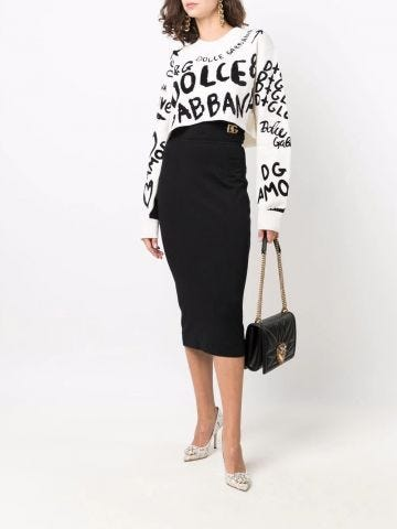 Black DG pencil skirt