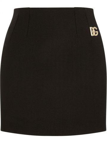 Black DG pencil mini skirt