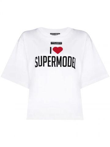 T-shirt Supermodel oversize bianca