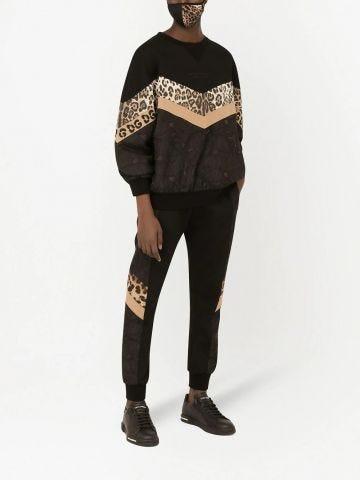 Patchwork design sweatshirt