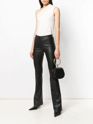 Black coloured flared pants