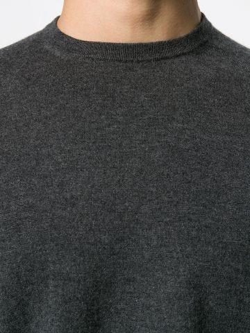 Grey Cashmere crew-neck jumper