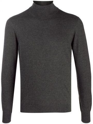 Grey Cashmere turtleneck jumper