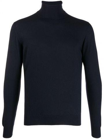 Blue Cashmere turtleneck