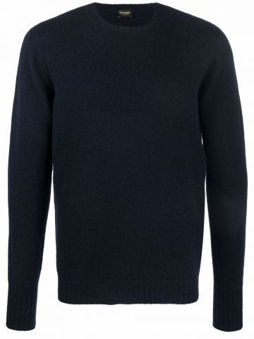 Blue Cashmere crew-neck jumper