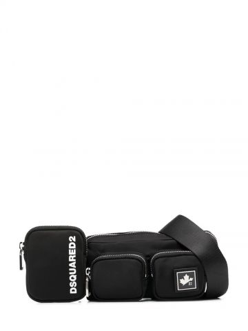 Black logo fanny pack