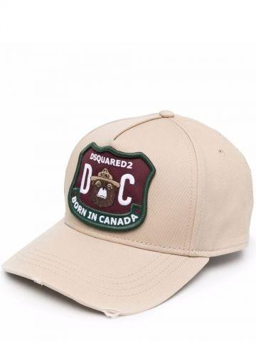 Beige logo-patch baseball cap