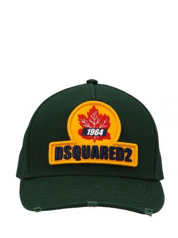 Green logo-patch baseball cap