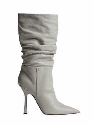 White Blair heel boots