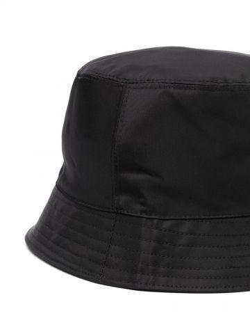 Black logo-patch bucket hat