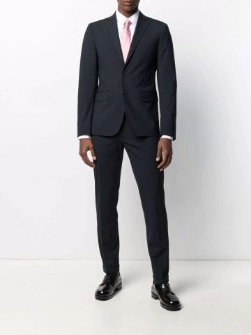 Single-breasted two-piece suit in blue