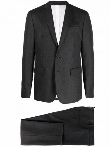 Two-piece single-breasted gray suit