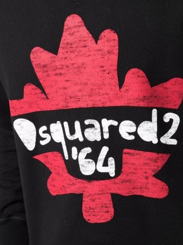 Black crewneck sweatshirt with print