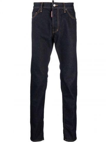 Slim jeans with dark wash