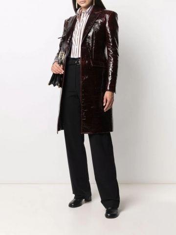 Cappotto con effetto stropicciato marrone