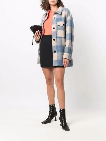 Black high-waisted skirt