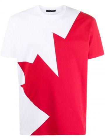 White logo-print T-shirt