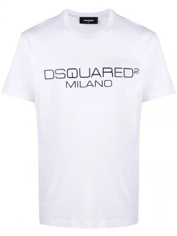 White T-shirt with logo print