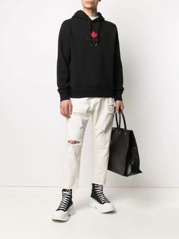 Black sweatshirt with logo