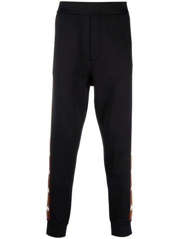Black logo-tape track pants