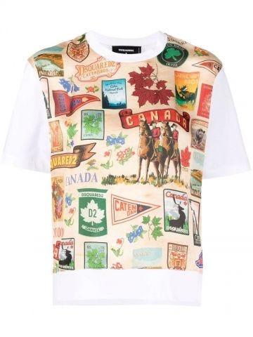 Multicolour print T-shirt