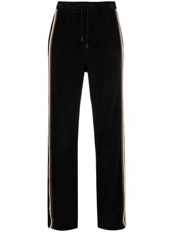 Black ribbed sweatpants