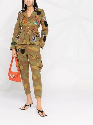 Camouflage patchwork trousers