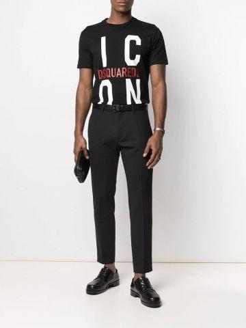 Black Icon crew-neck T-shirt