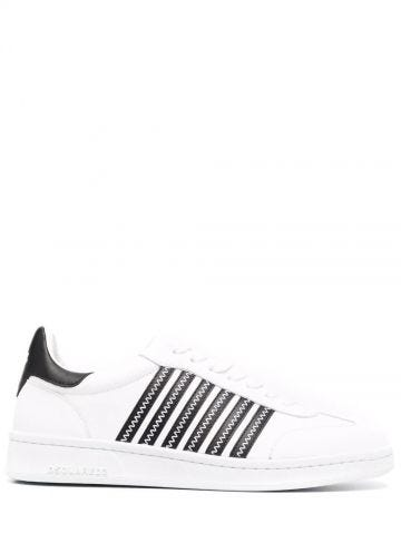 White striped sneakers