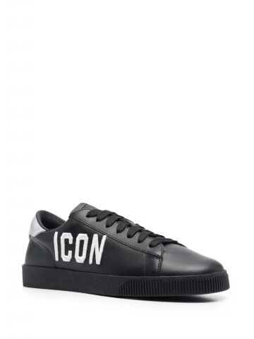 Black sneakers with Icon print