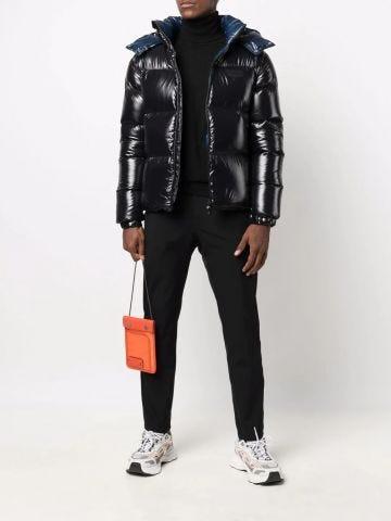 Black zipper down jacket