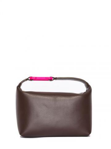 Moonbag brown satin handbag