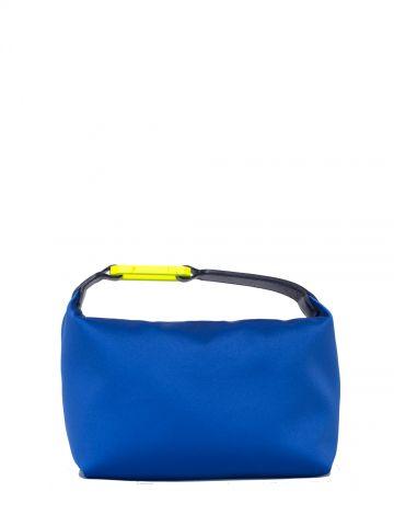 Moonbag blue satin handbag