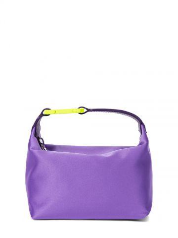 Moonbag purple satin handbag