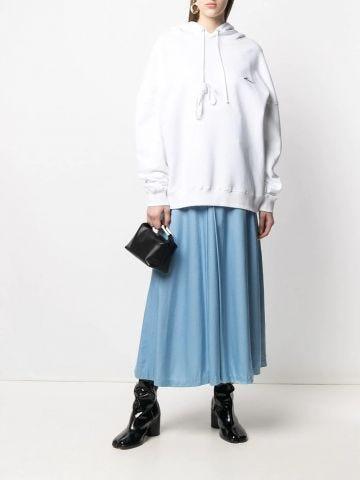 Moonbag black satin handbag