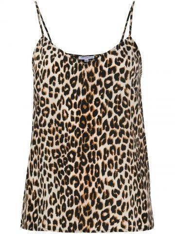 Layla silk cami Leopard print tank top