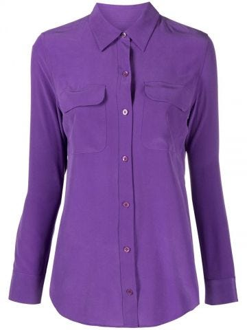 Purple silk shirt