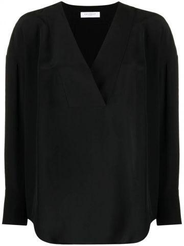 Black Natalinne V-neck blouse