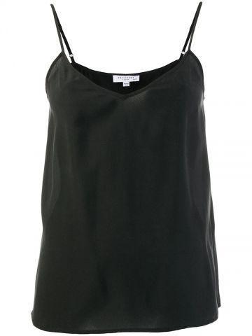 Black silk Layla top