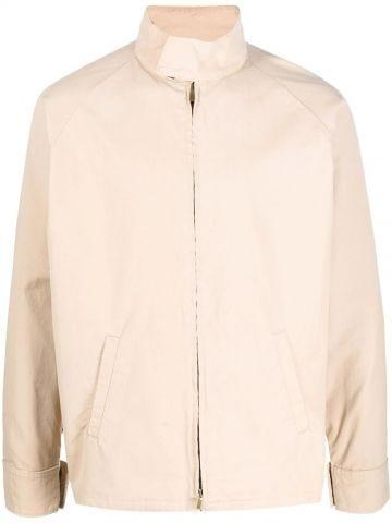 Beige logo print lightweight jacket